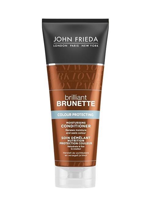 John Frieda Brilliant Brunette Colour Protecting Conditioner 250 ML - Kahverengi Saç Renk Koruyucu Nemlendirici Krem Renksiz